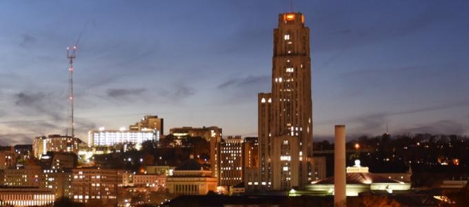 Pitt at night